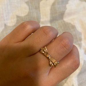 Kate Spade rose gold bow ring size 7